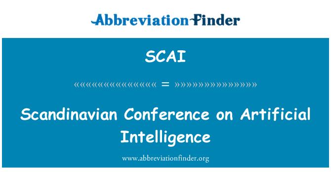 SCAI: Scandinavian Conference on Artificial Intelligence