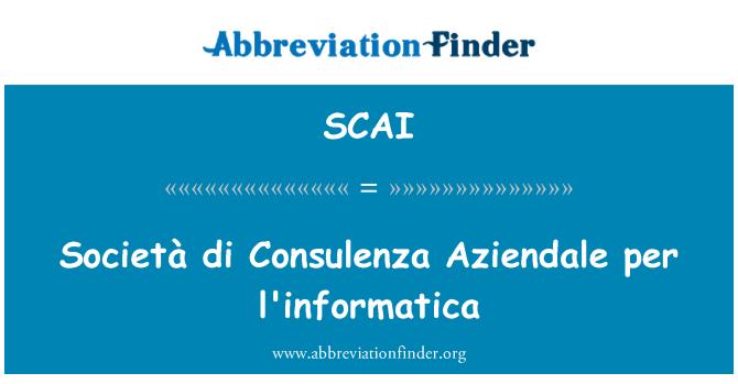 SCAI: Società di Consulenza Aziendale per l'informatica