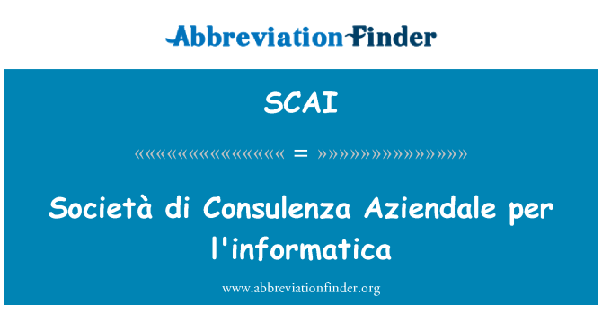SCAI: Società di Consulenza Aziendale l'informatica başına
