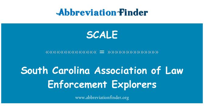 SCALE: 南卡罗莱纳州的法律执法探险者协会