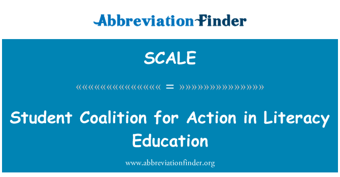 SCALE: 行动在素质教育中的学生联盟