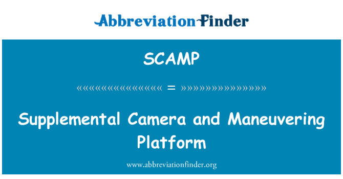 SCAMP: Supplemental Camera and Maneuvering Platform