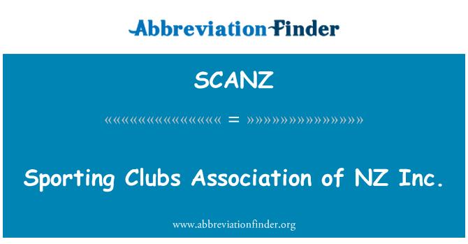 SCANZ: Sporting Clubs Association of NZ Inc.