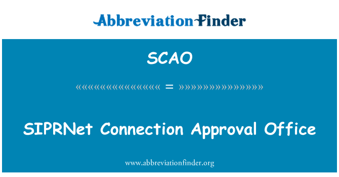 SCAO: ساپرنیٹ کنکشن کی منظوری دفتر