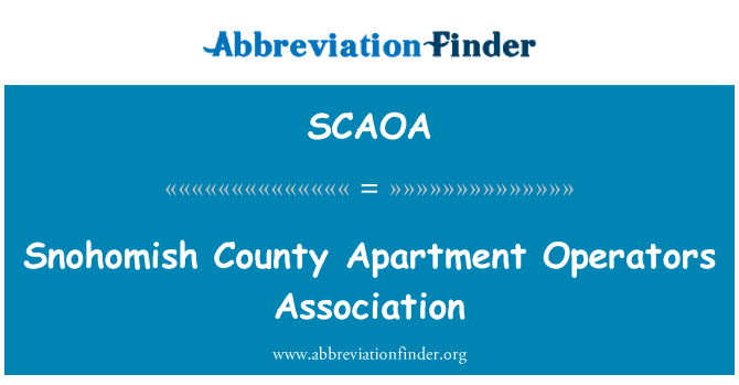 SCAOA: Snohomish County Apartment Operators Association