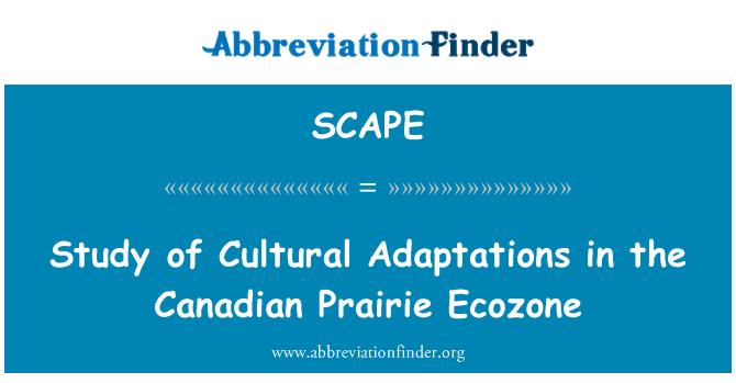 SCAPE: Estudio de las adaptaciones culturales en la pradera canadiense Ecozona