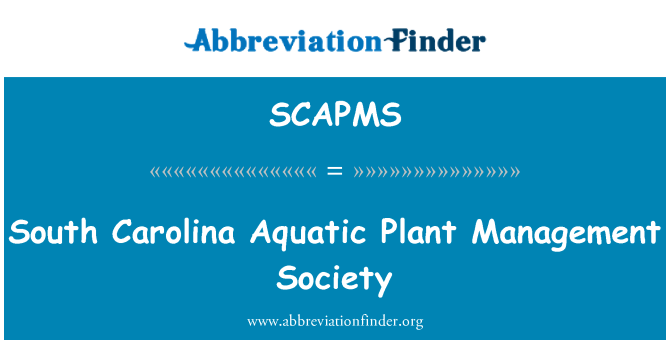 SCAPMS: South Carolina Aquatic Plant Management Society