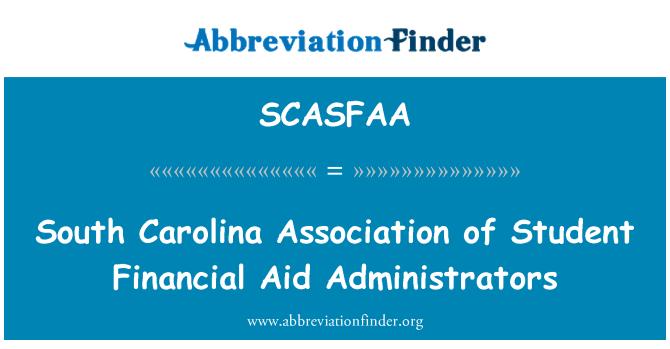 SCASFAA: South Carolina Association of Student Financial Aid Administrators