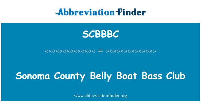 SCBBBC: Sonoma County Belly Boat Bass Club