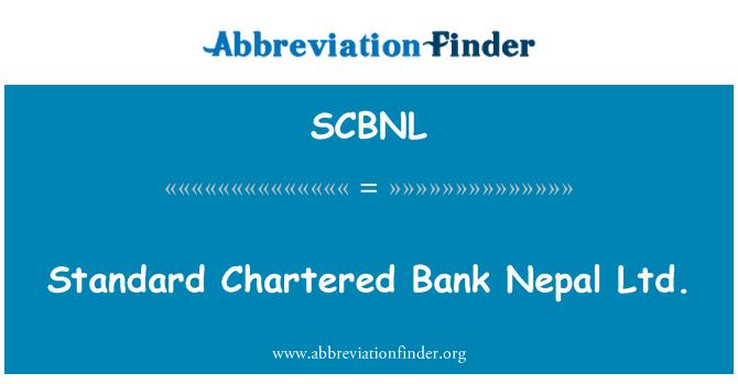 SCBNL: Standard Chartered Bank Nepal Ltd.
