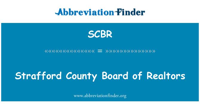 SCBR: Strafford County Board of Realtors