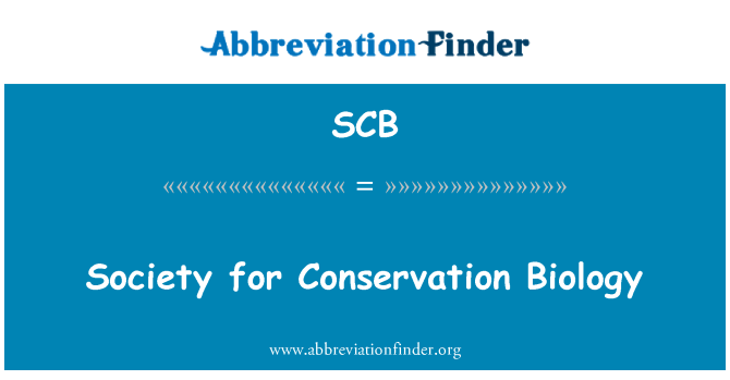 SCB: Society for Conservation Biology
