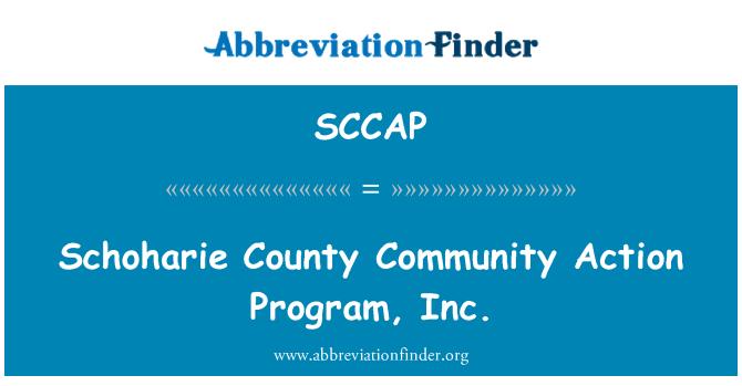 SCCAP: Schoharie County Community Action Program, Inc.