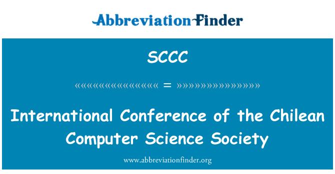 SCCC: Conferencia Internacional de la sociedad de ciencia informática chilena