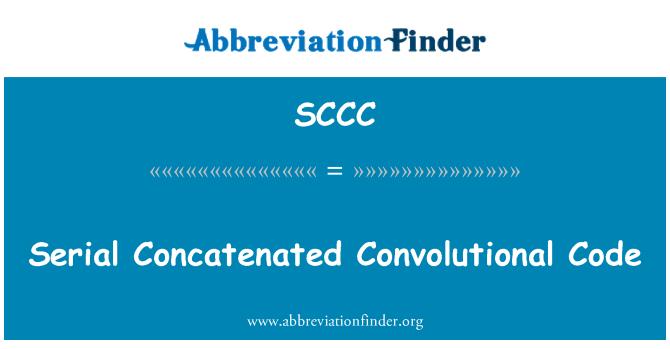 SCCC: Código convolucional concatenado serial