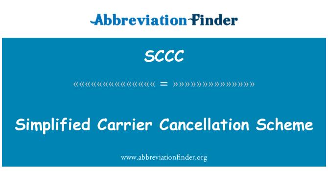 SCCC: Portador simplificado esquema de cancelación