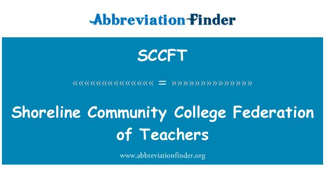 SCCFT: Shoreline Community College Federation of Teachers