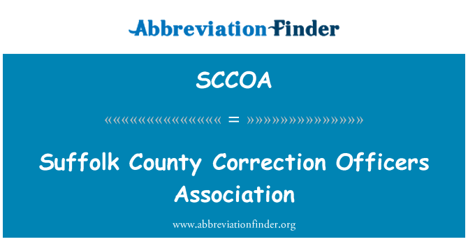 SCCOA: Suffolk County Correction Officers Association