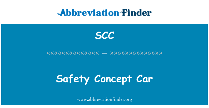 SCC: Safety Concept Car