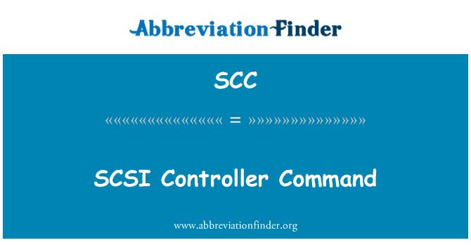 SCC: SCSI Controller Command