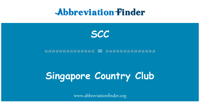 SCC: Singapore Country Club