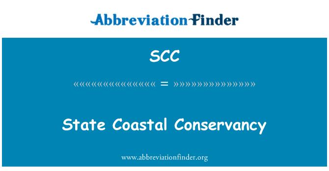 SCC: State Coastal Conservancy