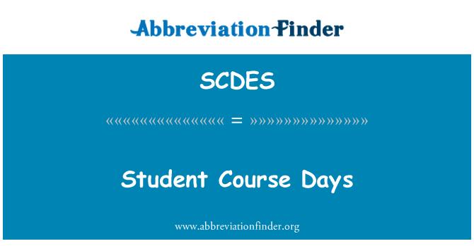 SCDES: Student Course Days