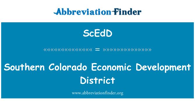 ScEdD: Southern Colorado Economic Development District