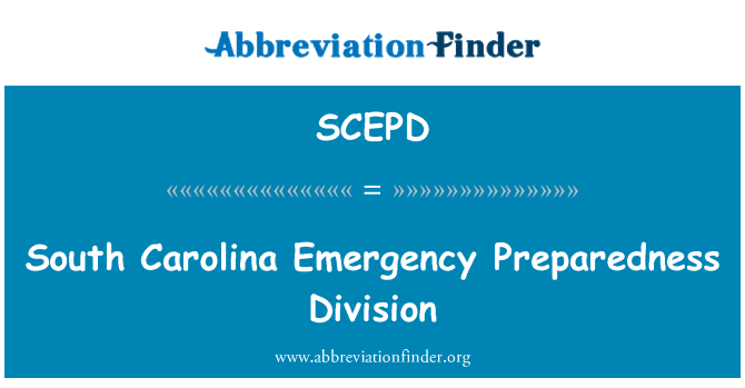 SCEPD: South Carolina Emergency Preparedness Division