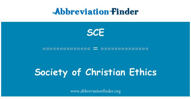 SCE: Society of Christian Ethics