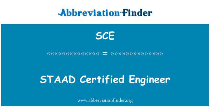 SCE: STAAD Certified Engineer