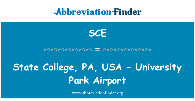 SCE: State College, PA, USA - University Park Airport