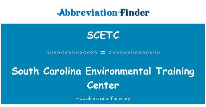 SCETC: South Carolina Environmental Training Center