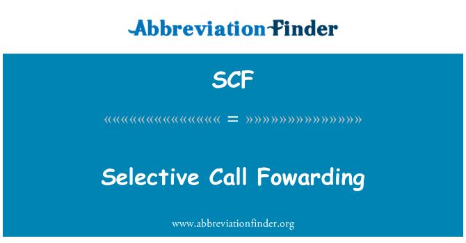 SCF: Selective Call Fowarding