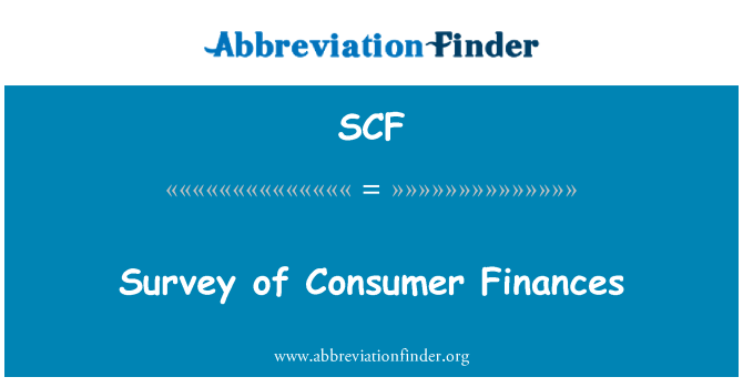 SCF: Survey of Consumer Finances