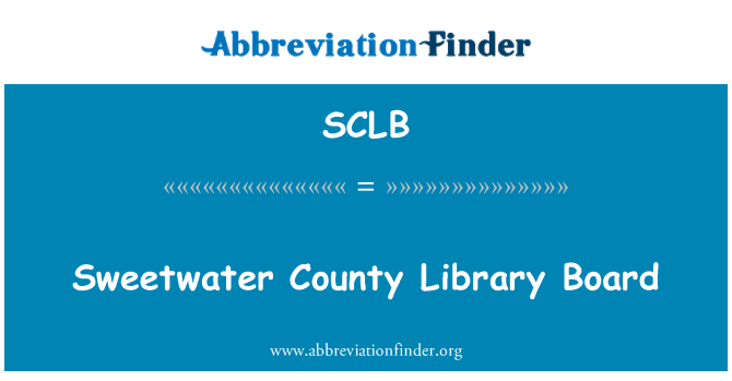 SCLB: Sweetwater County Library Board