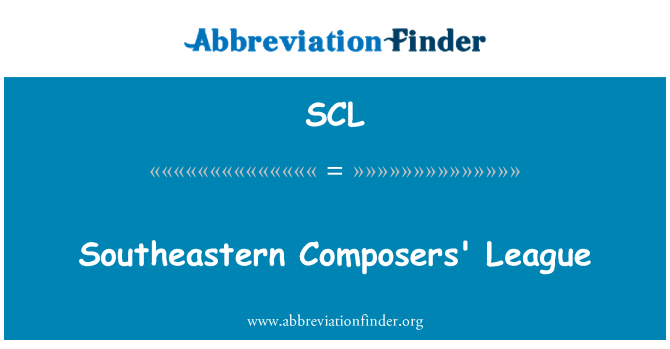 SCL: Southeastern Composers' League