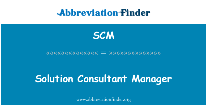 SCM: Solution Consultant Manager