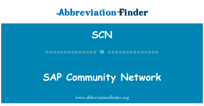 SCN: SAP   Community Network