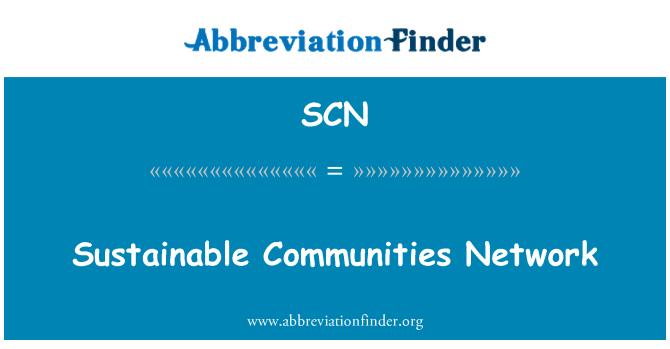 SCN: Sustainable Communities Network
