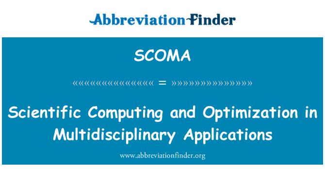 SCOMA: Scientific Computing and Optimization in Multidisciplinary Applications