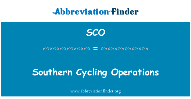 SCO: Southern Cycling Operations