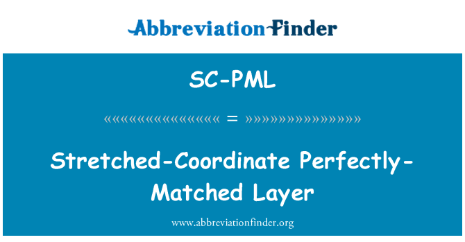 SC-PML: Stretched-Coordinate Perfectly-Matched Layer
