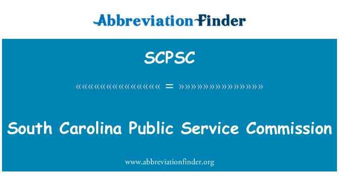SCPSC: South Carolina Public Service Commission