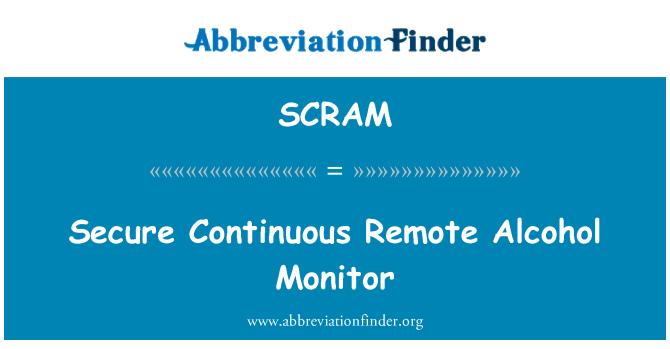 SCRAM: Monitor de Alcohol remoto continuo seguro