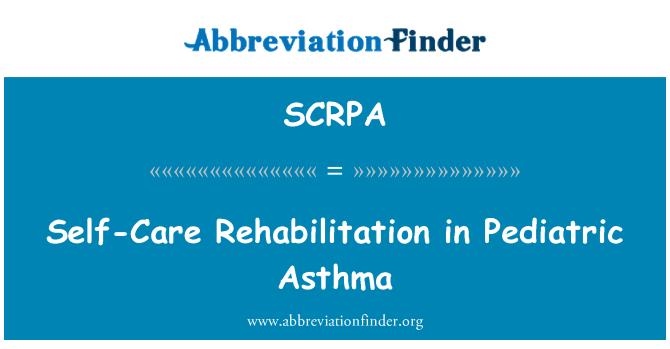 SCRPA: 在小儿哮喘的自我康复