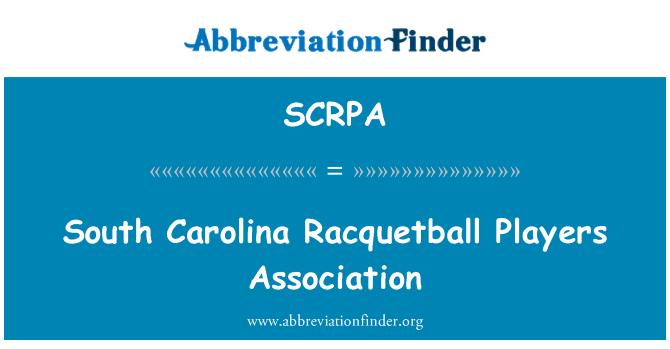 SCRPA: 南卡罗莱纳州壁球运动员协会