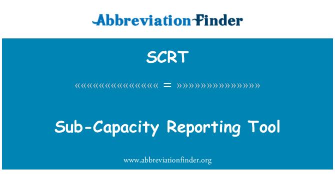 SCRT: Alt kapasite raporlama aracı