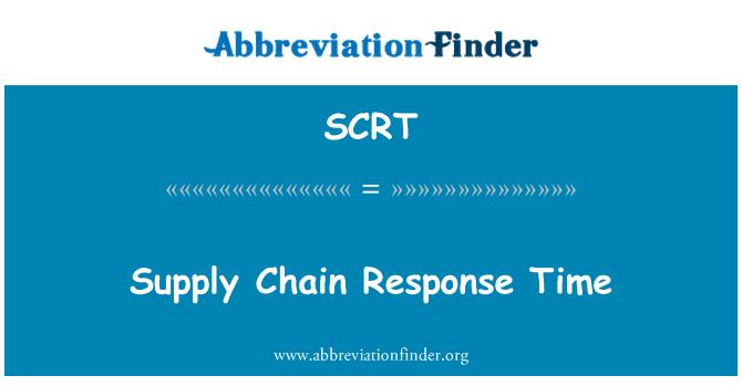 SCRT: Tedarik zinciri tepki süresi