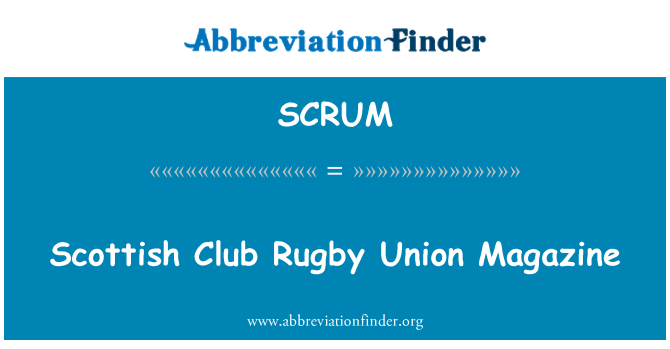 SCRUM: Revista Unión de Rugby Club escocés